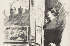Édouard Manet, At the Window, from Stéphane Mallarmé's translation of Edgar Allan Poes, The Raven.