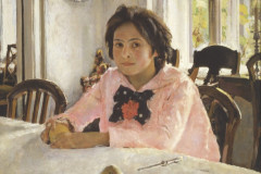 Valentin Aleksandrovich Serov, Girl with peaches. Portrait of V. S. Mamontova, 1887