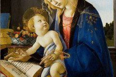 Sandro Botticelli, The Virgin and Child, The Madonna of the Book, 1480.