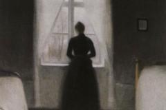 Vilhelm Hammershøi, Bedroom, 1890.