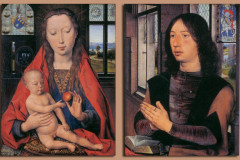 Martin Niuvenhove, Diptych, The Virgin and Child and Donor, 1487.
