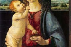 Leonardo da Vinci, The Dreyfus Madonna - Madonna with child and pomegranate, 1480.