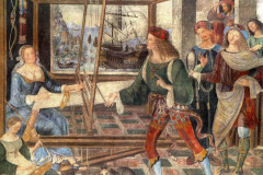 Pinturicchio, The Return of Odysseus, Penelope with the suitors, 1509.