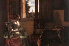 Pieter de Hooch, Woman Reading a letter, 1664.